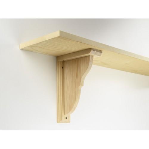 reeded wooden shelf bracket 120mm. Black Bedroom Furniture Sets. Home Design Ideas